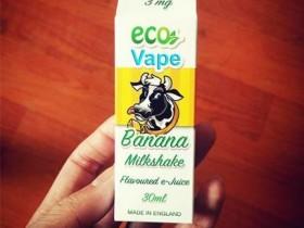 【LittleSleep分享】英国ECO香蕉奶昔烟油——童年记忆降暑必备曼丽克雪糕