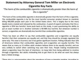 【蒸汽烟吧每日资讯】美国司法部总检察长汤姆·米勒为电子烟发表积极声明!