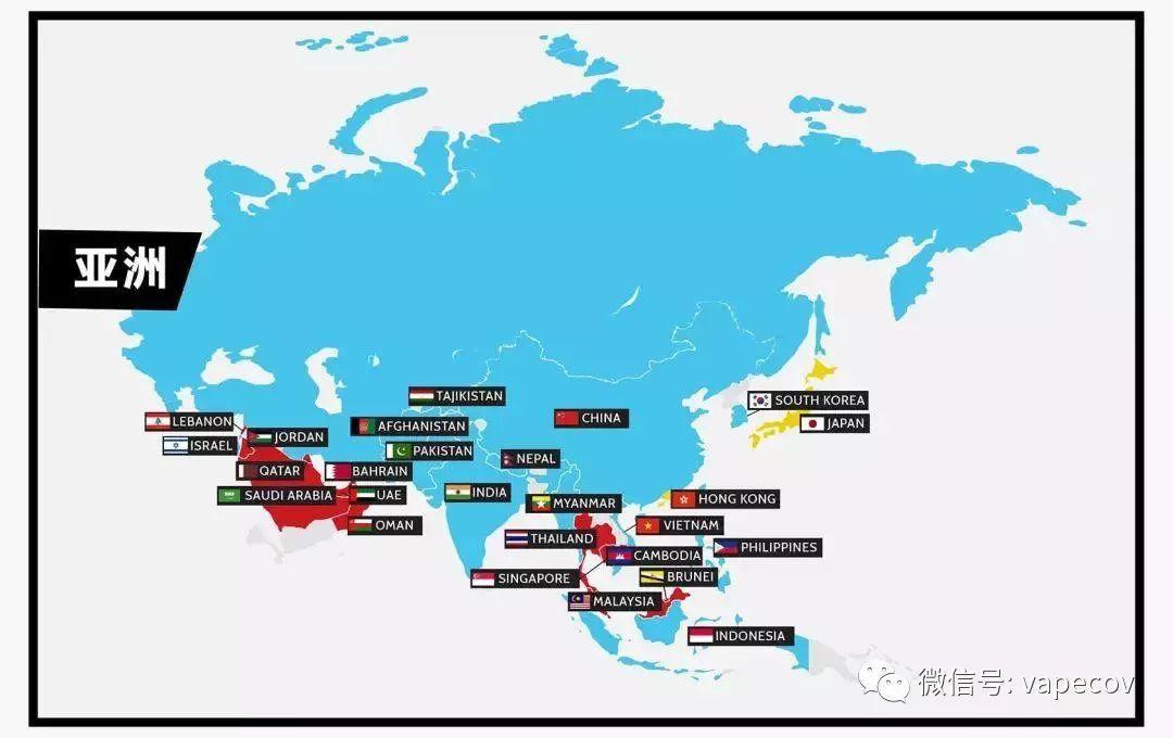 敲黑板!【电子烟法规世界地图】你不能带电子烟的国家都在这里!