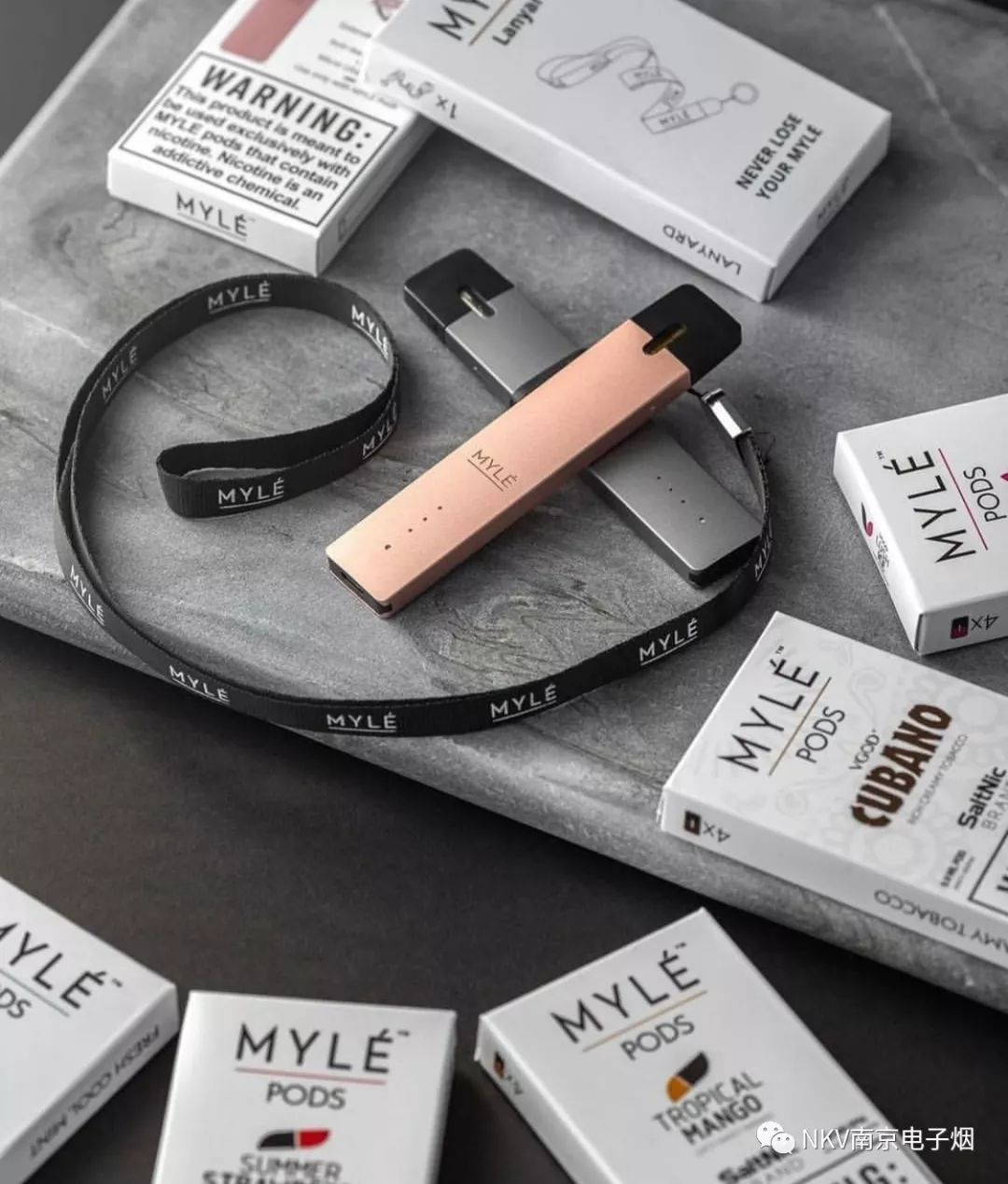 MYLE 来自美国的电子烟品牌 如口香糖一样方便